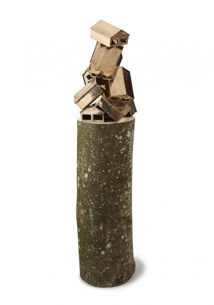 "Danish-born artist Eske Kath (b. 1975) ""Bronze Pile"", 2011. Bronze, wood."