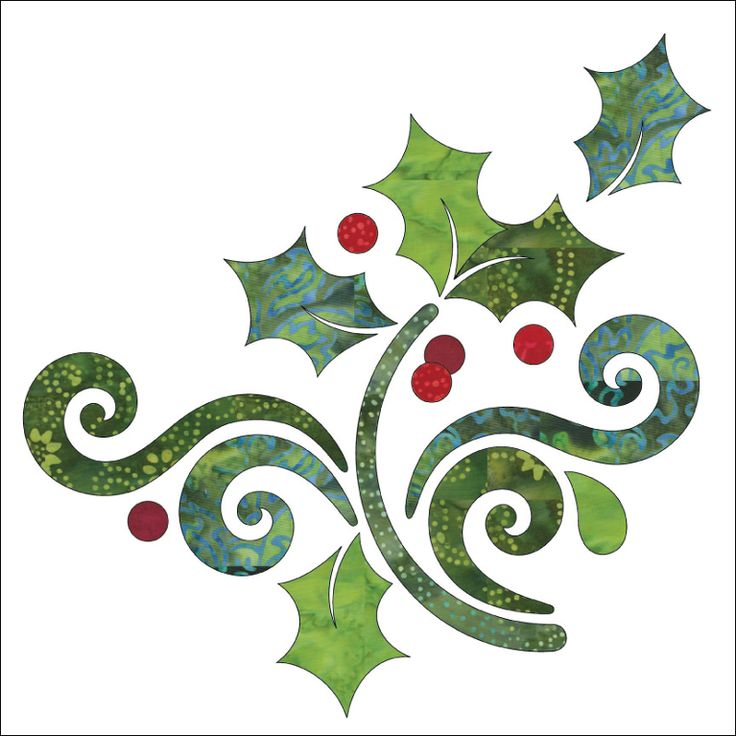 (7) Name: 'Quilting : Applique Panel - Season's Greetings