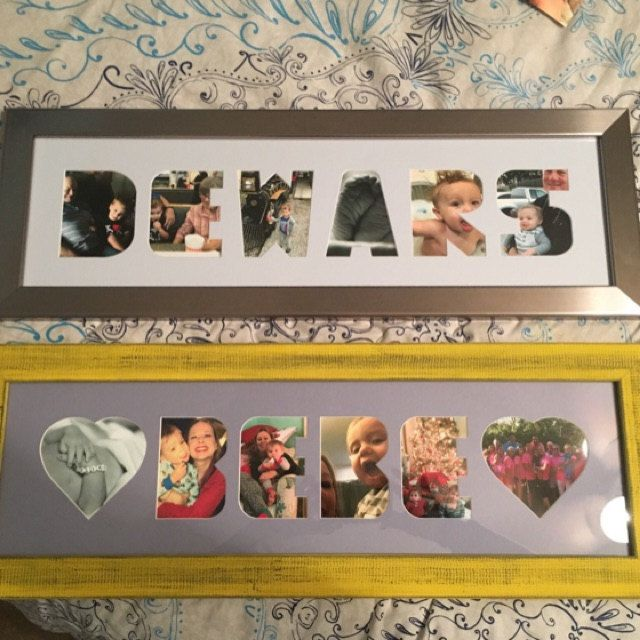 Letter Picture Frame Collage Personalized Collage Picture Etsy In 2020 Picture Letters Collage Picture Frames Framed Photo Collage