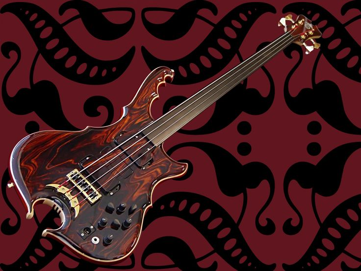 Bass Guitar Pictures Wallpaper: Alembic Custom Bass Bird Of Prey