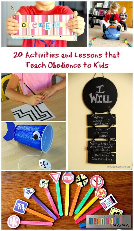 20 Activities and Lessons that Teach Obedience to Kids   Teaching