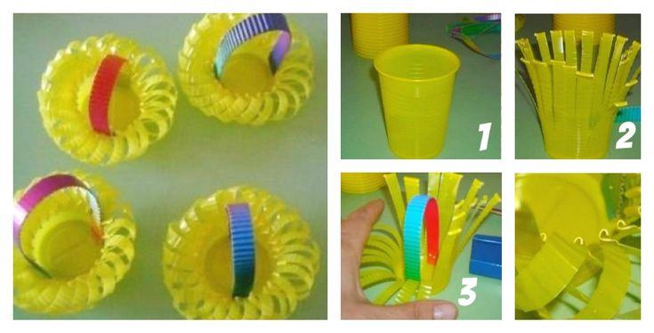Reutilize copinhos descartáveis, transformando-os em criativas cestinhas de doces. Acompanhe o passo a passo, divirta-se e economize!