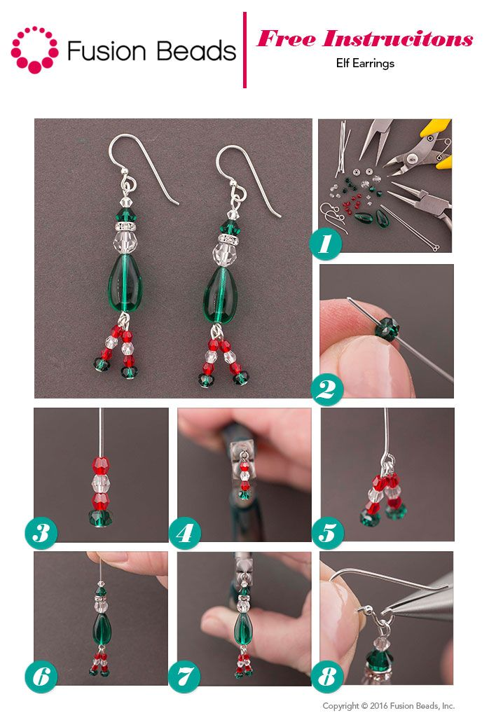 It's the most wonderful time of the year! Time to spread that holiday cheer! Start your DIY gifts early with our adorable Elf Earrings! They're the perfect accessory for the upcoming holiday season.
