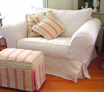 chair...pillows and ottoman...: Slipcovers Website, White Slipcovers, Slipcovers Options, Custom Slipcovers, Chic Slipcovers