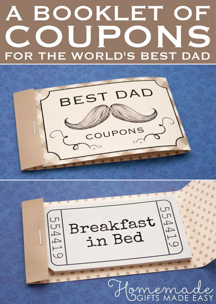Coupons For Dad Diy Gifts Birthday Presents