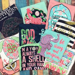I'll take one of each of these Simply Southern Tees, please!