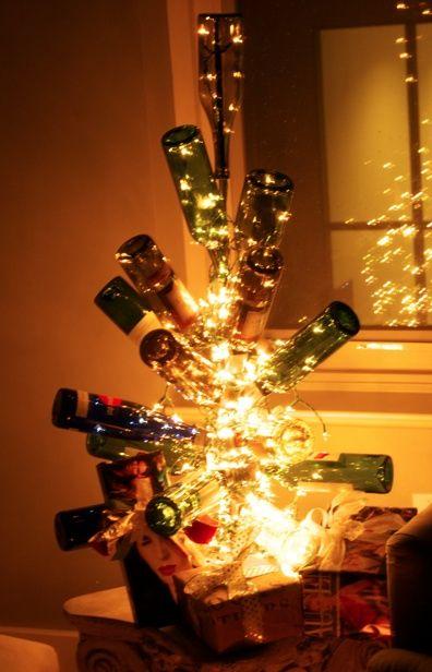 Wine Bottle Christmas Tree Frame Wine Bottle Christmas