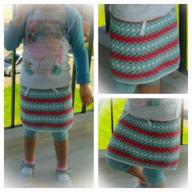 Haken - Gehaakt rokje Crochet skirt