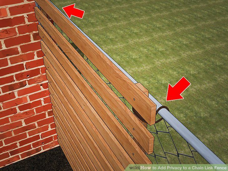 Add privacy to a chain link fence diy privacy fence