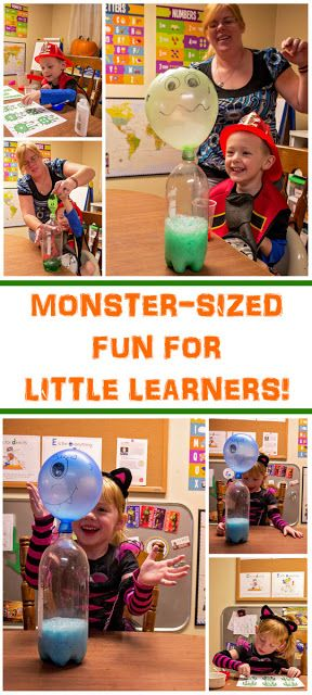 These monster-themed activities are perfect for early learning in the areas of math and science. A simple science experiment teaches the three primary states of matter and provide a first look at chemical reactions, while free printables provide counting activities with googly eyes. Perfect for a halloween playdate or party.