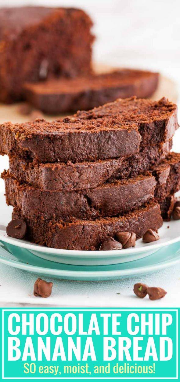 Chocolate Banana Bread Is So Moist And Flavorful Dutch Process Cocoa Powder Chocolate Bread Recipes Sweet Chocolate Banana Bread Chocolate Chip Bread Recipe