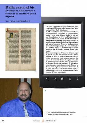 Dalla carta al bit. Evoluzione della lettura e tecniche di scrittura per il digitale  http://www.sulromanzo.it/blog/dalla-carta-al-bit-evoluzione-della-lettura-e-tecniche-di-scrittura-per-il-digitale