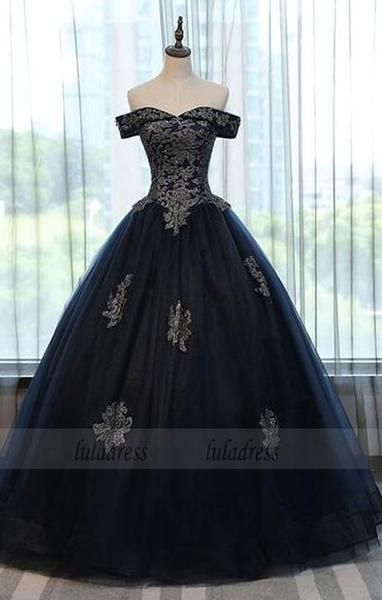 a96361247af Simple Black Long Prom Dress