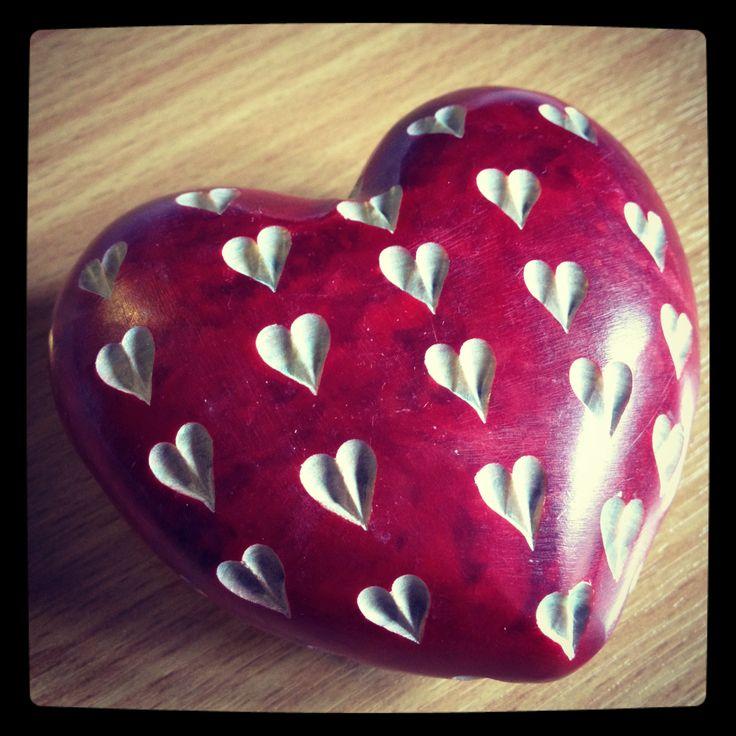 Beautifully carved stone heart. ©VixSouthgate2014