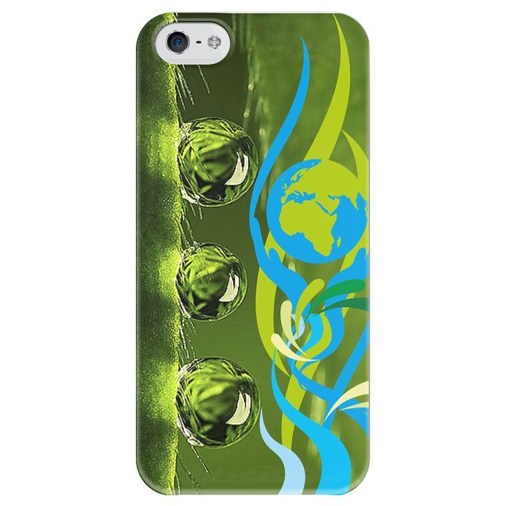 """Чехол для iPhone 5 глянцевый, с полной запечаткой """"Окружающая среда"""" от Hatulia - Printio"""