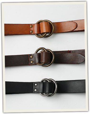 O-Ring Signature Leather Belts, Rob Magness, Grown & Sewn.