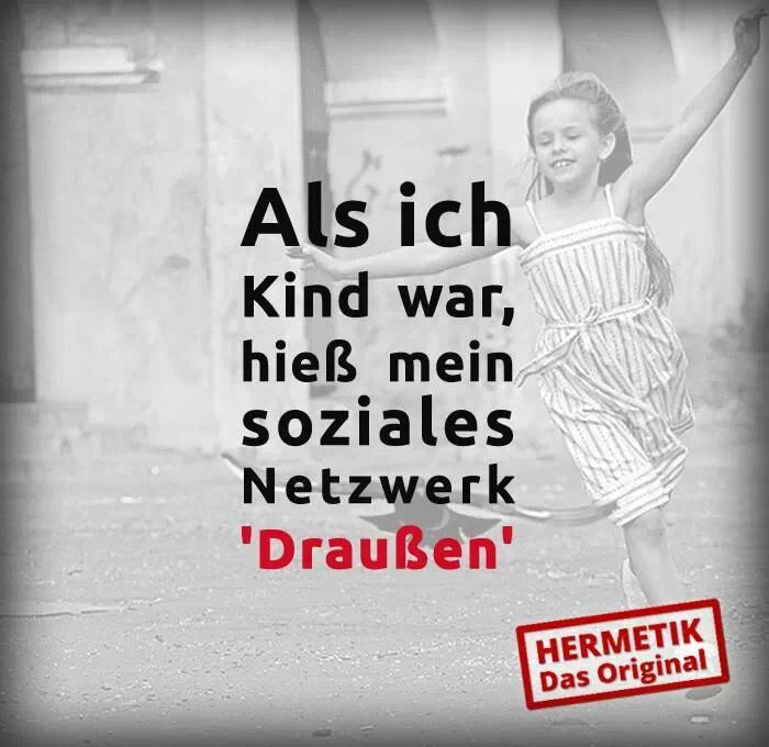 .Soziales Netzwerk: Draussen!