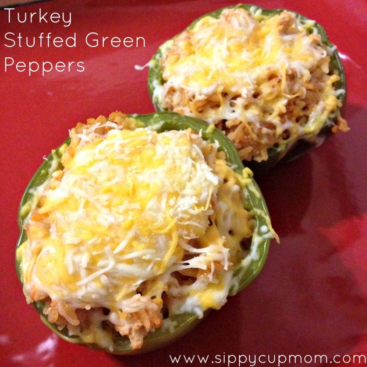 Turkey Stuffed Green Peppers: Left Over, Food Recipes, Turkey Stuffed Peppers, Low Carb, Rice Cauliflowers, Turkey Stuffed Green Peppers, Healthy Recipes, Weights Loss, Stuffed Peppers Rice Turkey