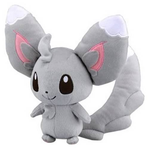 19.99 Awesome Pokemon plush! Minccino stands at 8-inches tall! Very cute and collectible Pokemon plush! Minccino is a furry, gray-colored chinchilla Pokemon, sporting scruffs of fur on its head
