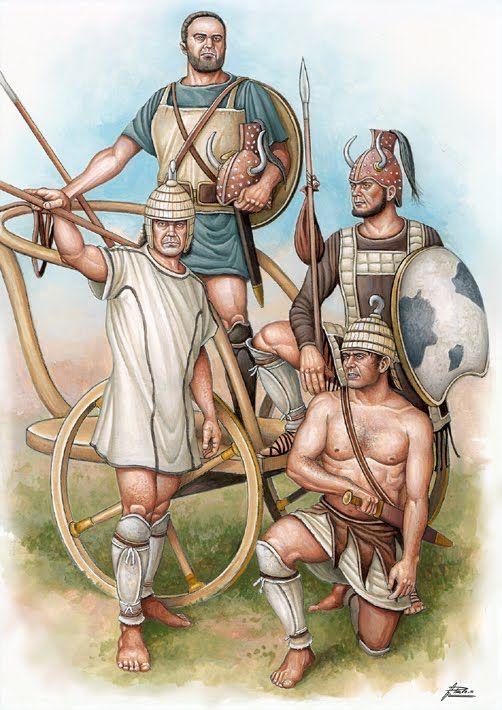 Late Bronze Age Mycenaean warriors. - Angel García Pinto