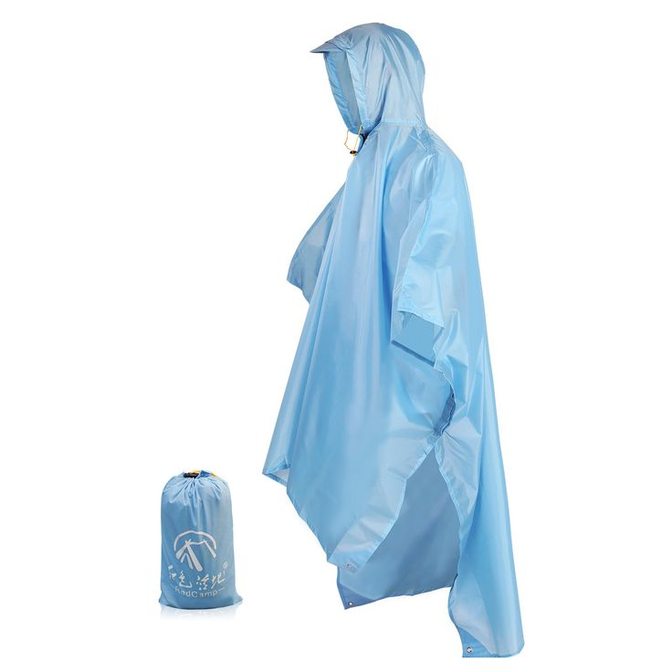 """REDCAMP Outdoor Rain Poncho Waterproof,3 in 1 Multifunctional Poncho,Camping Raincoat with Hood for Backpack,Blue. ✔3-IN-1 RAINCOAT:the outdoor rain poncho waterproof for men is designed for outdoor activities.It can be used as a mountaineering raincoat,picnics,mat for hiking and more. ✔SIZE&COLOR:the camping raincoat with hood for hiking size is length 55"""" unfold width is 95"""". two color let you choose,blue and camouflage. ✔WATERPROOF:the multifunctional rain coat waterproof poncho is…"""