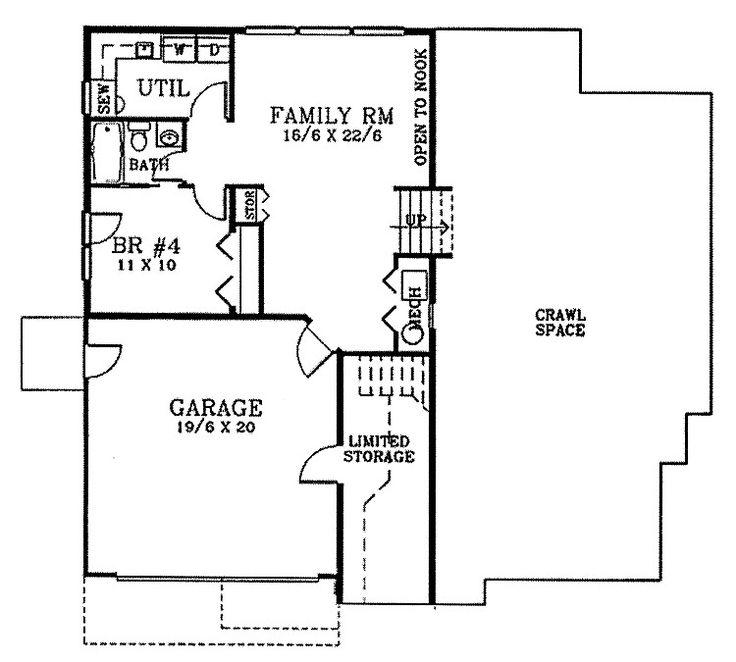16 best split level floor plans images on pinterest for Simple split level house plans