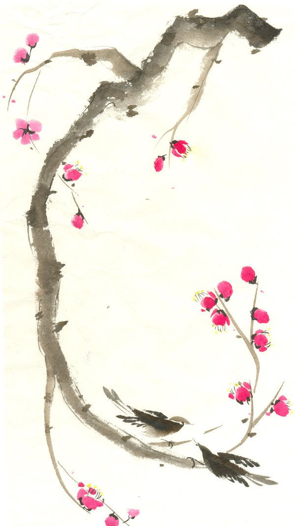 Sumi-e: Sugar Plum by catherinejao.deviantart.com on @deviantART