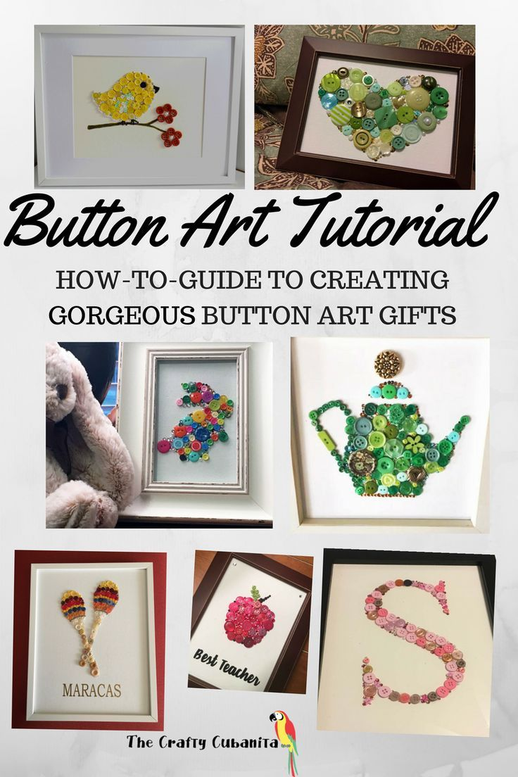 How to Make Beautiful Button Art!  It's Easy & Fun for all Crafters!