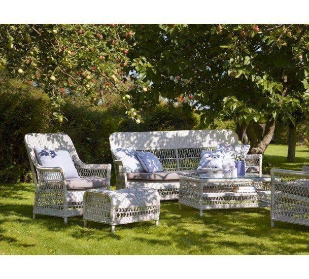 Sika-Design Dawn Kurvesofa - Vintage Hvid - Georgia Garden