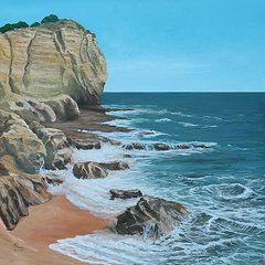 Ed Cabral Art - Portugal Coast by Ed Cabral