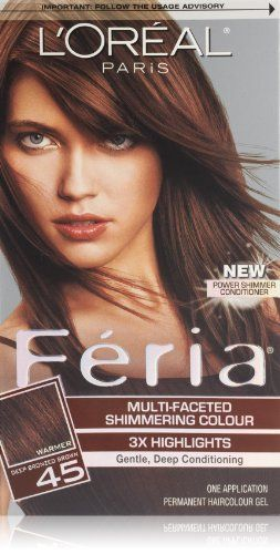 cool L'Oreal Paris Feria Hair Color, 45 Deep Bronzed Brown/French Roast