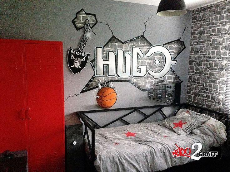 décoration chambre ados graffiti street art personnalisée. pour plus de rensei…
