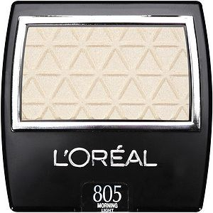 L'OREAL EYESHADOW - MORNING LIGHT. -This is perfect as a browbone highlighter ( and for the inner corners of the eyes). Very pretty.