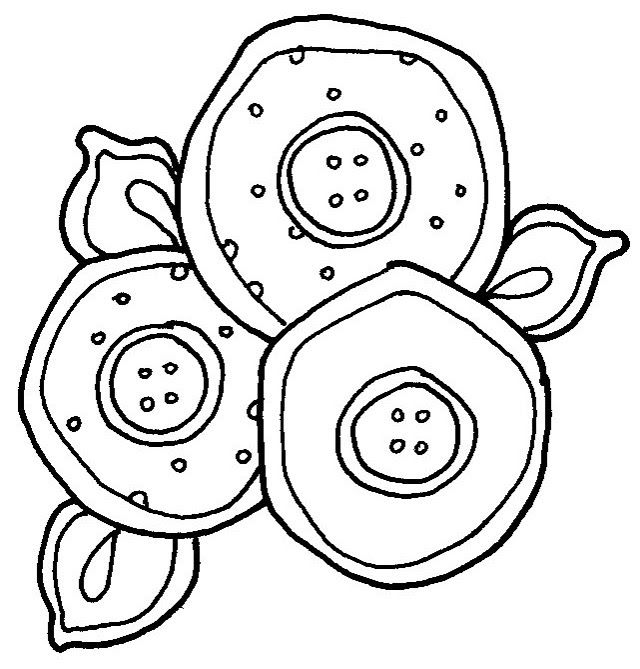 Button Flowers Adult Coloring Books Doodle Art Water Colors Picasa Web Digi Stamps Clip Journaling