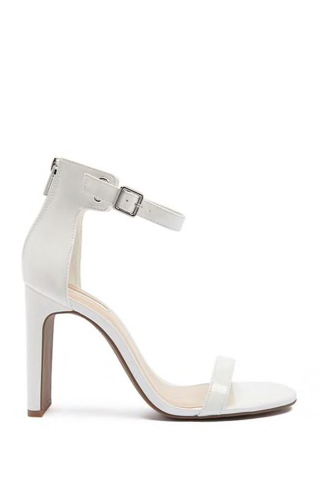 25058db46c8 Faux Patent Leather Ankle-Strap Heels