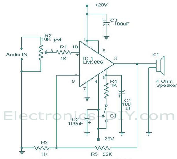 17 best images about electric electronic lm 3886 amplifier circuit diagram