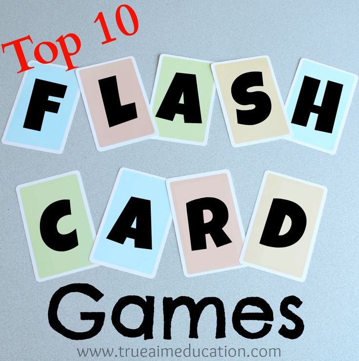 Top 10 Flash Card Games and DIY Flash Cards at True Aim. Traditional flash card study is boring and tedious. These ideas turn flash cards into fun!