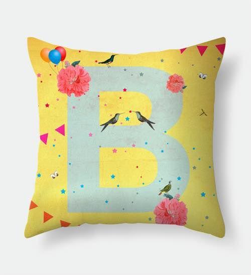 Letter B pillow