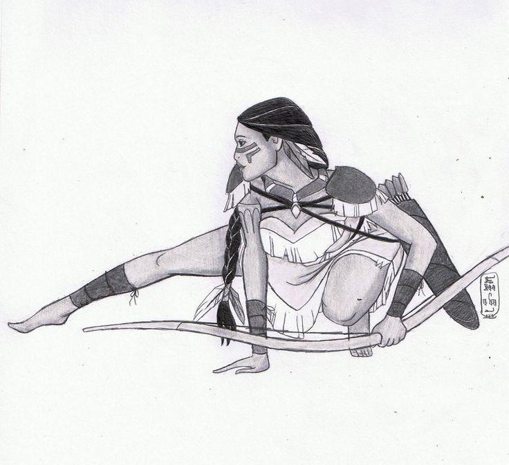 Warrior Princess: Pocahontas by MyWorld1 on DeviantArt