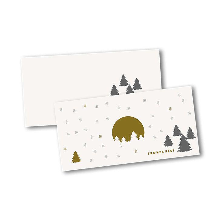 Weihnachtskarten für Firmen im Kartendesign Weihnachtsbäume im Schnee Version 2 #weihnachtskarten #weihnachten #firmenkarten #klappkarten #xmascards #weihnachtsbaum #CHILIPFEFFERdesign