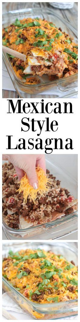 Mexican Style Lasagna, makes the perfect quick fix dinner the whole family enjoys! @oldelpaso #sponsored