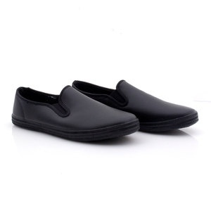 Leather Slip-On Shoe Black
