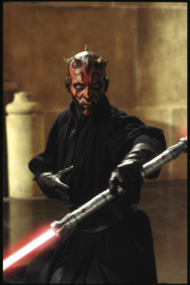 Darth Maul (i like the original star wars! and empire strikes back was my favorite) sounds like (bg) lol...