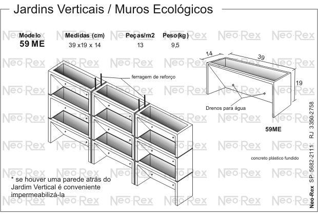jardim vertical neorex : jardim vertical neorex:de Concreto