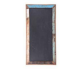 Pizarra con marco de madera tropical reciclada – L60