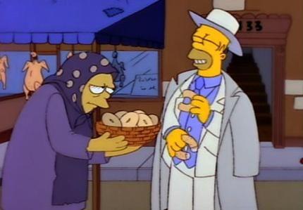 Le citazioni e le parodie di film e telefilm costituiscono una parte importante dell'umorismo dei #Simpson.