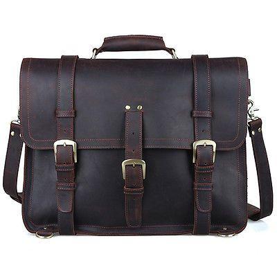 Mens-Large-Genuine-Leather-Backpack-17-Messenger-Bag-Laptop-Weekend-Travel