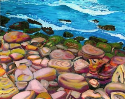 Oil on Canvas - Seascape - Bondi Rocks 2008