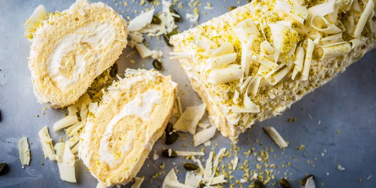 Chef Russell Brown's dreamy lemon roulade recipe is both light and indulgent, thanks to the lemon curd and white chocolate mousse filling.