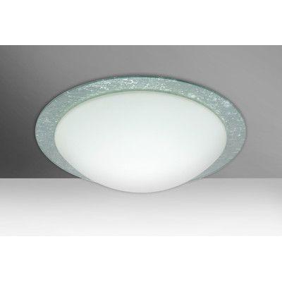 Besa Lighting Ring 2 Light Outdoor Flush Mount Finish: Silver Foil